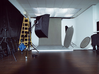 Modern photo studio interior