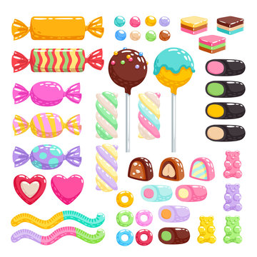 Sweets set. Assorted candies.