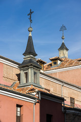 Amazing view of San Pedro el Real church in City of Madrid, Spain