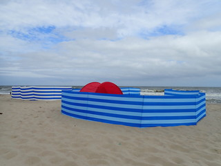Parawan na plaży Bałtyku