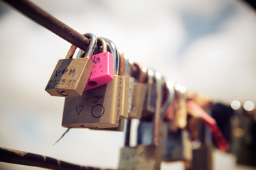 Love padlocks view