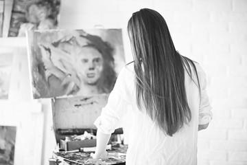 Drawing pictures creative portrait artist process