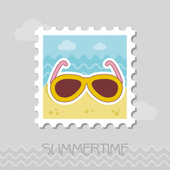 Sunglasses flat stamp