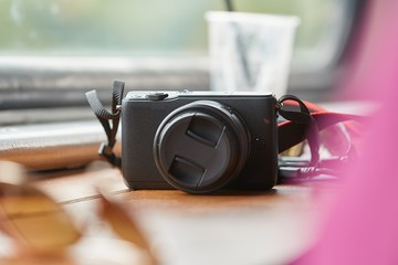 Camera on a table