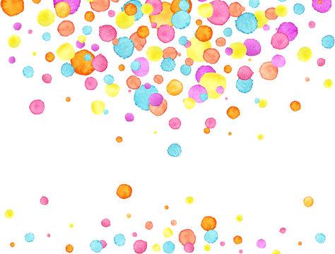 Confetti background. Watercolor confetti design. Party concept. Vector illustration