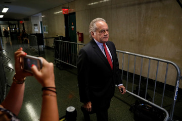 Film producer Harvey Weinstein's lawyer Benjamin Brafman arrives at Manhattan Criminal Court in New York City