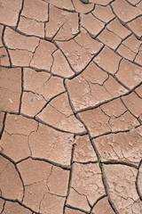 Trockene, rissige rote Erde - Hintergrund