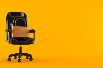 Padlock on business chair
