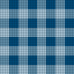 Indigo Blue Tartan Seamless Background
