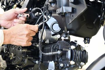 オートバイの整備