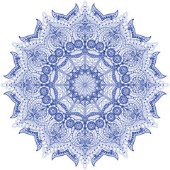 Vector round indian ornament with paisley.