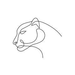 Panther line art logo