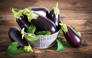 Frsh organic eggplant