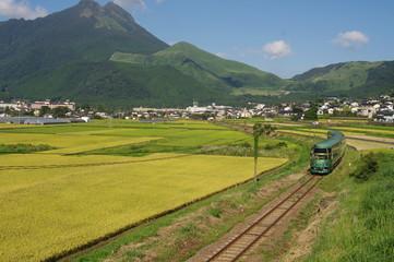 由布岳の風景