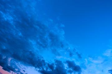 Dark sky with clouds afrer sundown