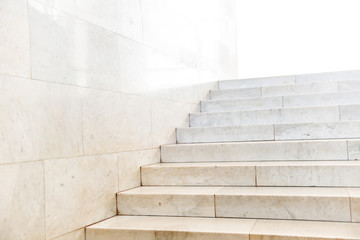 Foto op Plexiglas Trappen Marble staircase with stairs in abstract luxury architecture