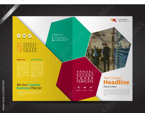 Brochure Template Geometrical, Company Profile Design Cover