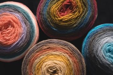 Close up of yarns