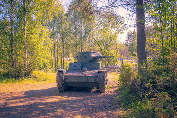 Old tank from world war 2. Photo from Kuhmo, Finland.