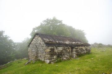 Wall Mural - Lexardi stone shed in Gorbea