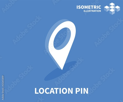 Location pin icon isometric template for web design in flat 3d isometric template for web design in flat 3d style vector illustration maxwellsz