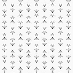 small and tiny fan art deco Japan styles with scale motifs. Vector pattern. pattern is on swatches panel.