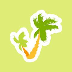 Tropical palms island