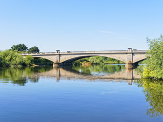 Tranquility at Gunthorpe Bridge on the River Trent in Nottinghamshire