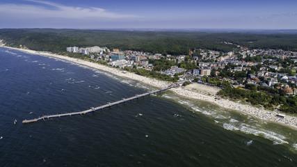 Międzyzdroje - a picturesque Polish resort on the Baltic coast from a bird's eye view