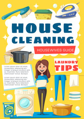 Vector brochure for house cleaning