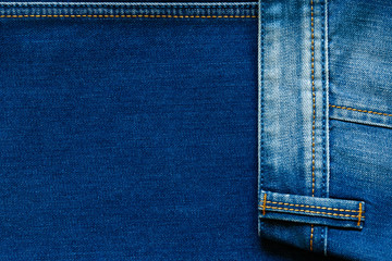 Jeans texture with stitch.