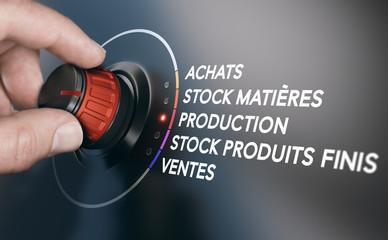 Gestion de la chaîne logistique de l'approvisionnement jusqu'à la commercialisation d'un produit.