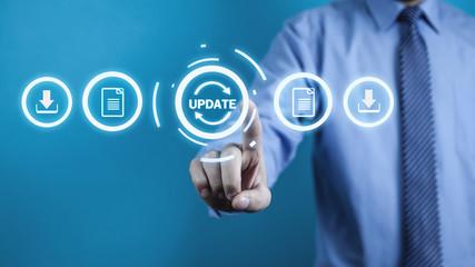 Update Program. Business, Technology, Internet concept