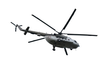 Helicopter isolated.