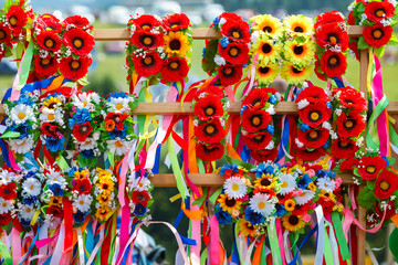 Wreath with flowers. Ukrainian wreath.