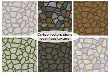 Big set cartoon color stone texture Papier Peint