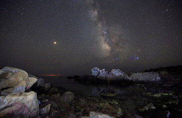 The Milky Way from a beach in the Sardinia island