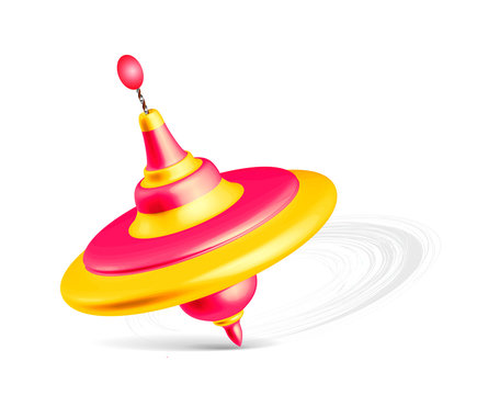 Whirligig toy isolated on white background