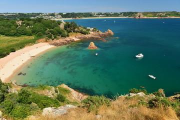 Beauport & St Brelade, Jersey, U.K. Idyllic coastline in the Summer.
