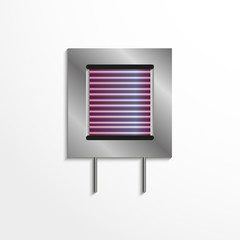 Component to the electronic microcircuit. Vector icon.