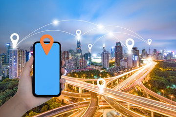 City mobile phone positioning system