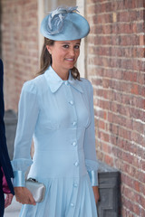 Pippa Middleton arrives for the christening of Prince Louis, the youngest son of the Duke and Duchess of Cambridge at the Chapel Royal, St James's Palace, London