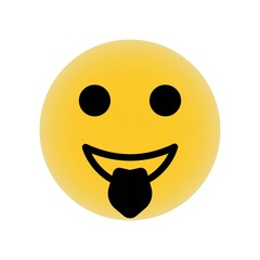 Emoticon square face with tongue out icon vector icon. Simple element illustration. Emoticon square face with tongue out symbol design. Can be used for web and mobile.