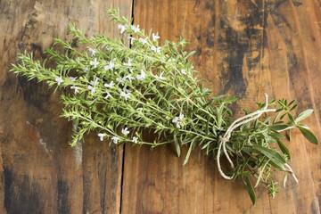 Summer Savory , Satureja Hortensis, Bunch