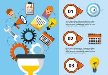 Project Management Infographic Layout