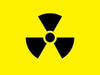 Nuclear radiation warning symbol illustration