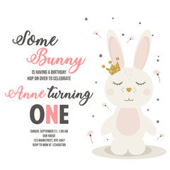 Birthday invitation with bunny