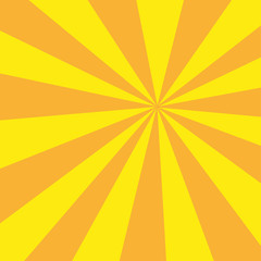 Retro sunburst ray in vintage style