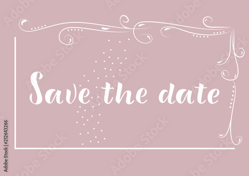 Save The Date Wedding Invitation Thank You Greeting Save The