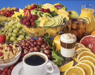 Mixed Fruit and Beverages A nutrient combination of fruits, cereals and beverages